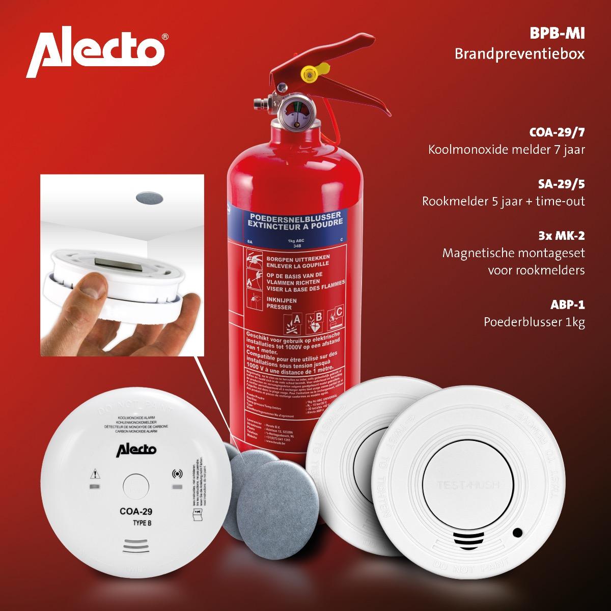 Brandpreventiebox 'Alles-in-1' Alecto BPB-MI