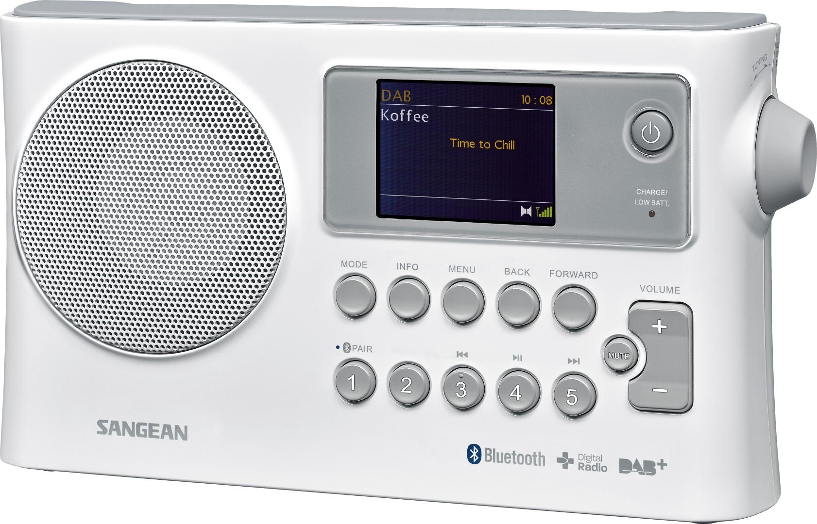 Compacte radio met DAB+, FM en Bluetooth - Sangean BTR-160