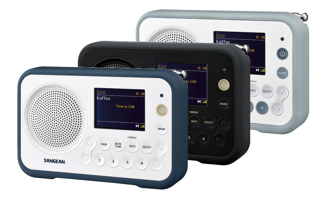 Compacte radio met DAB+ en FM Sangean DPR-76