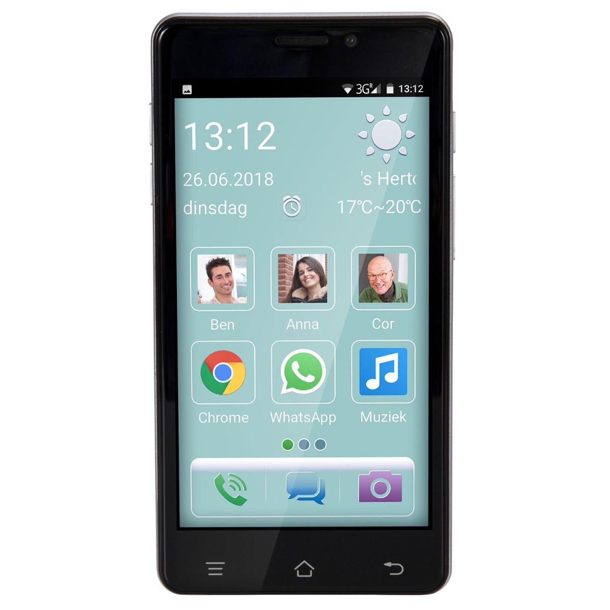 4G Smartphone voor senioren met SOS knop Fysic F101