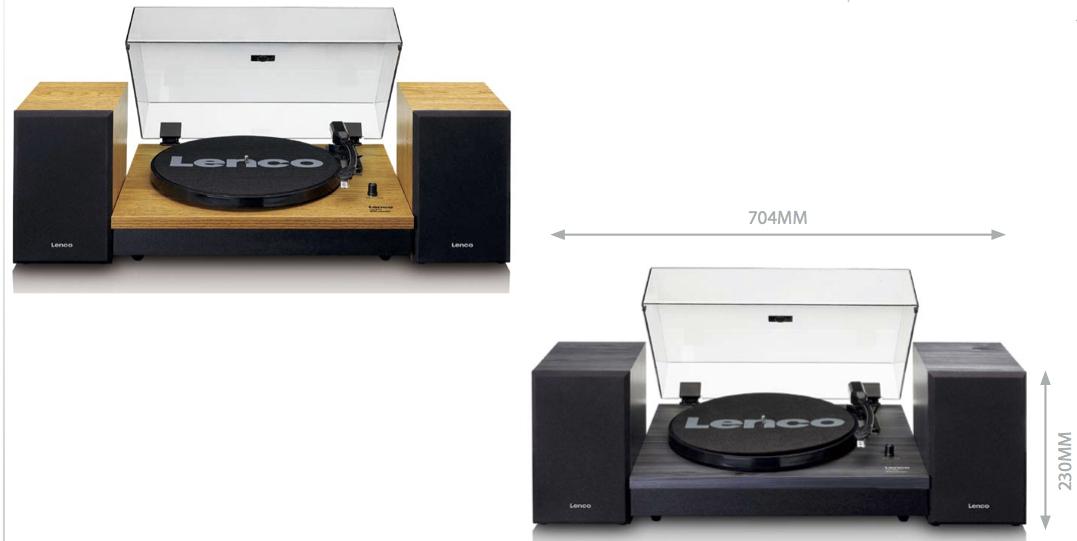Platenspeler + 2 losse speakers & bluetooth Lenco LS-300