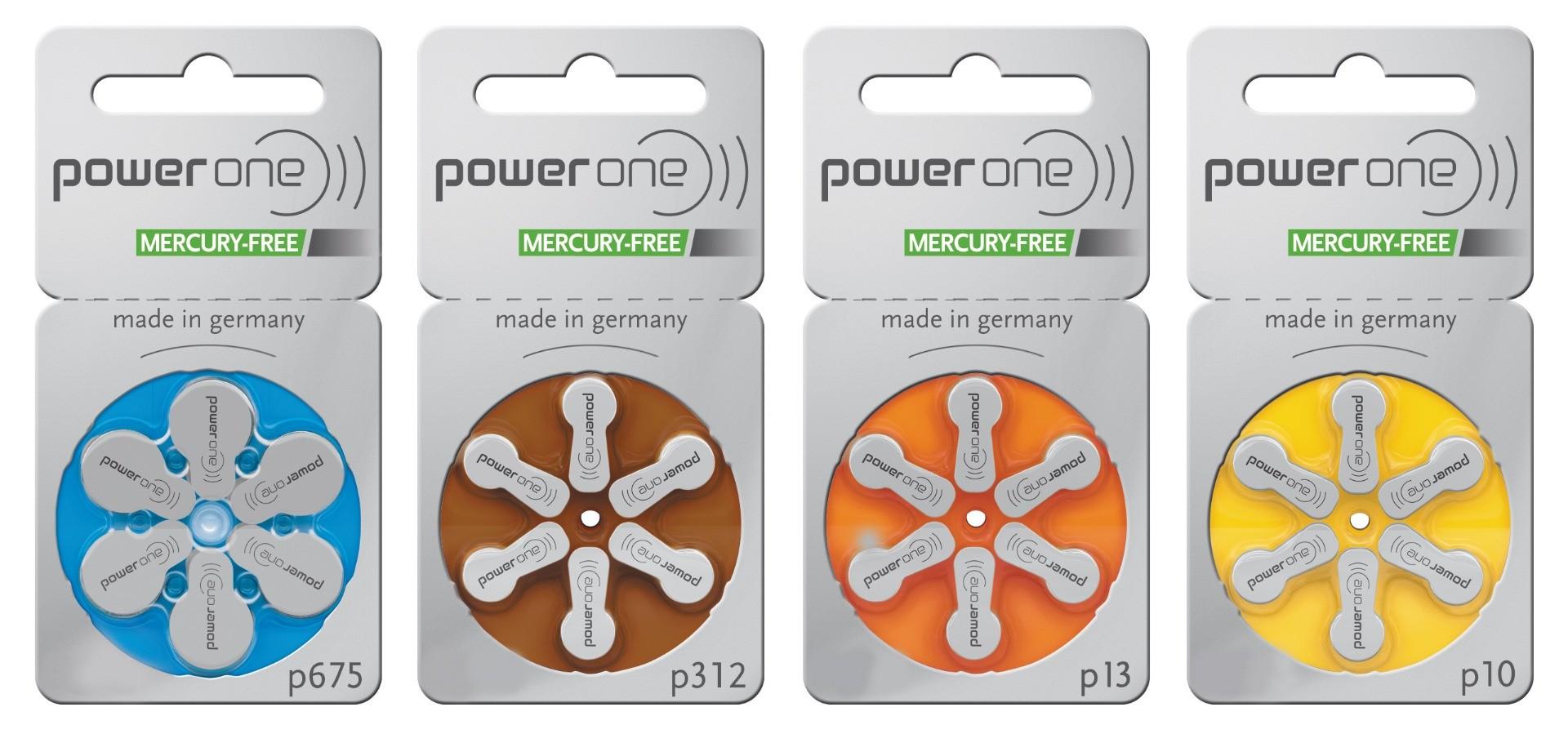 60 stuks hoortoestel batterijen Power One