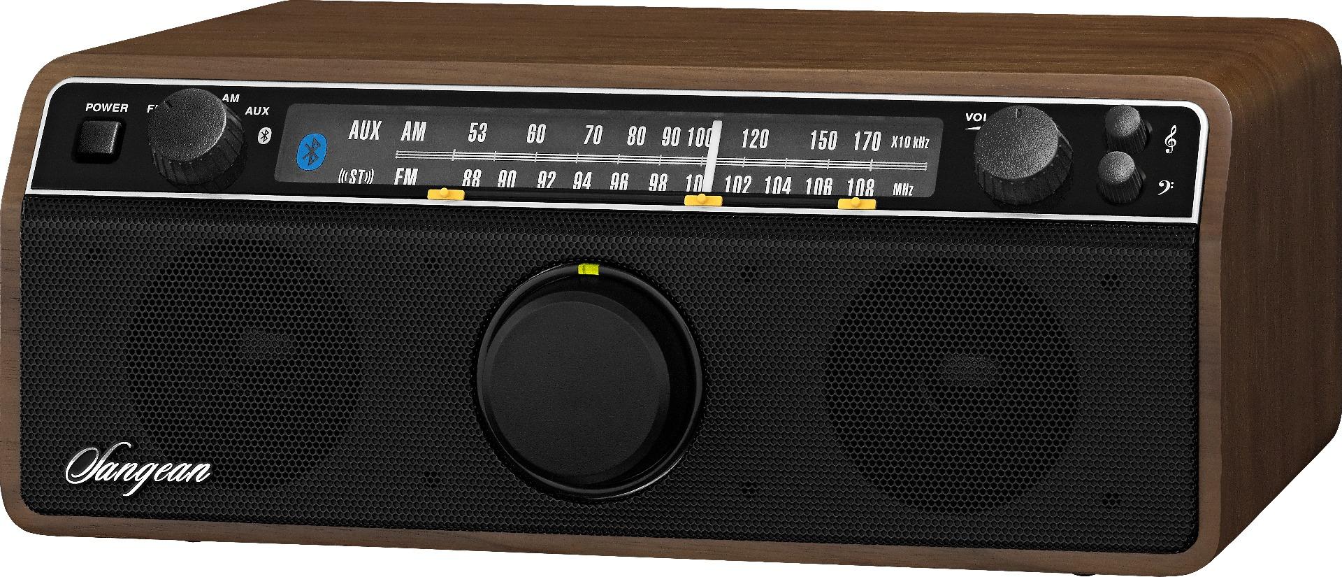 Retro tafelradio met AM, FM & Bluetooth Sangean WR-12BT